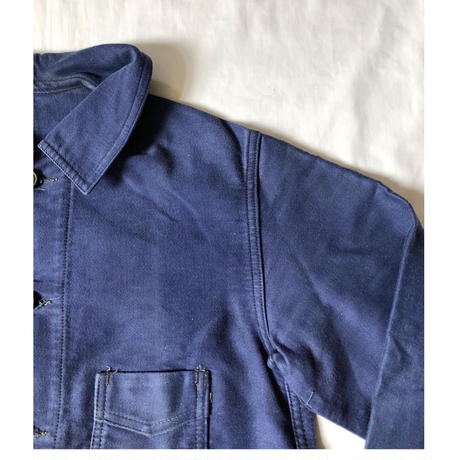 Early 40's Ink Blue Moleskin Coverall