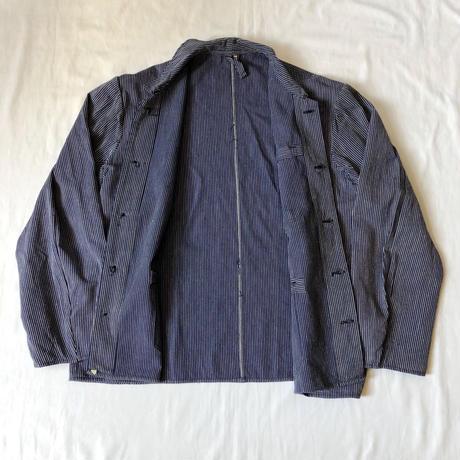 """30's Belgian """"Cotton/Linen"""" Striped Pattern Workwear"""
