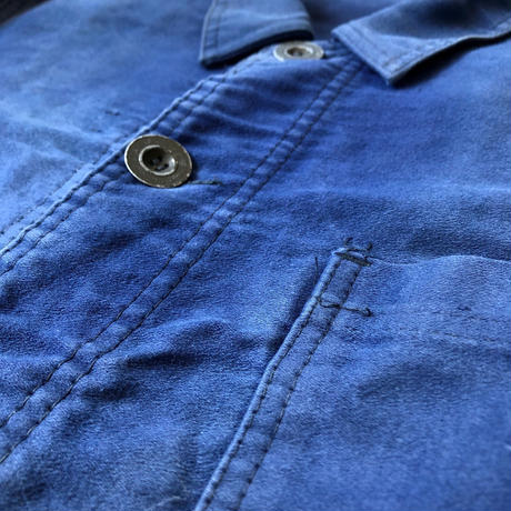 "50's Ink Blue Moleskin ""Good Faded/Metal Button"""