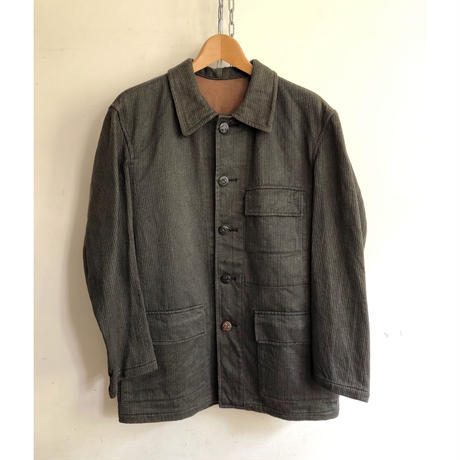 40's〜50's Cotton Piquet Animal Buttons Hunting Jacket