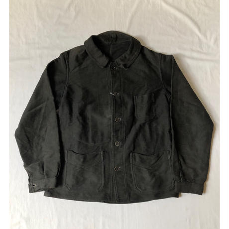Early 40's Black Moleskin Coverall