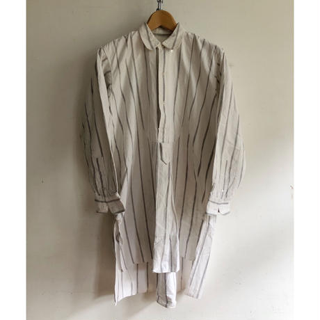 "20's ""Round Collar/ selvage"" Striped Farmers Shirt"