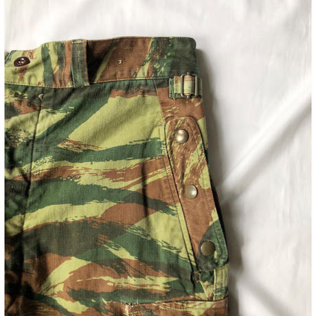 "60's French Airborne Paratrooper Trousers ""Lizard Striped Pattern"""