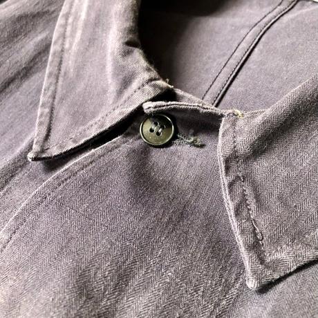 60's Black HBT (Over dyed?) Work  Coat.