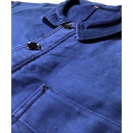 """50's Ink Blue Moleskin Coverall Made by """"Adolphe Lafonte"""""""