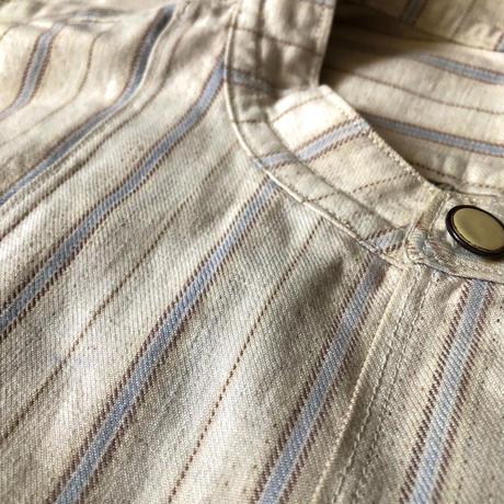 〜1930's Collarless Farmers Work Shirt Dead Stock/1