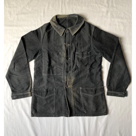 "40's Black Moleskin Coverall Made by ""Le St Pierre"""