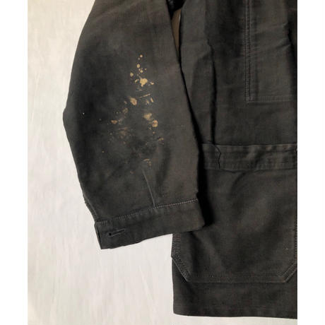 "40's〜50's Black Moleskin Coverall Made by ""Le Favori"""