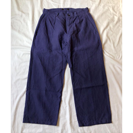 "50's French Army ""Indigo Linen"" Army Linen  Trousers Dead Stock  ""23"""