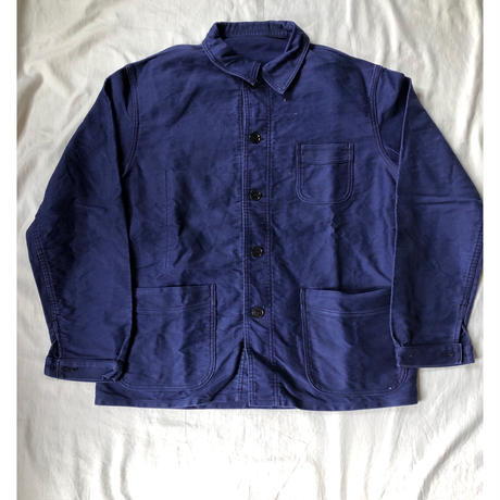 40's〜50's Le Mon Saint Michael Ink Blue Moleskin Coverall Good Condition
