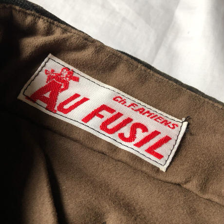"""40's Corduroy Work Trousers Dead Stock. Made by """"Au Fusil"""""""