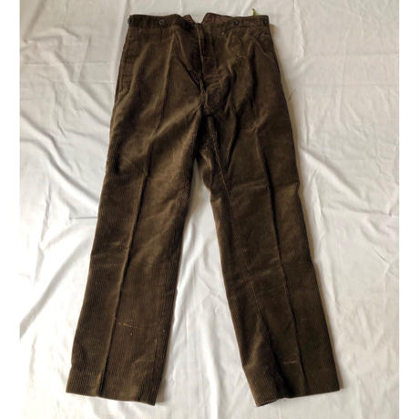 40's Heavy Corduroy With Back Cinch Work Trousers Dead Stock