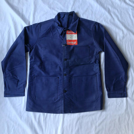 """60's Ink Blue Moleskin Coverall Dead Stock Made by """"BUTTON le CABLE""""/3"""