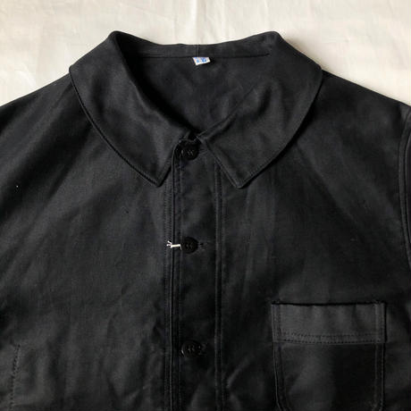 1950's Black Moleskin Coverall Dead Stock Made by Ange St Michel