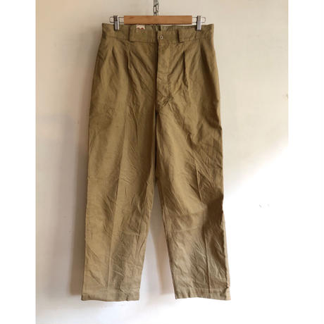 "50's French Army Chino Trousers Dead Stock ""33"""