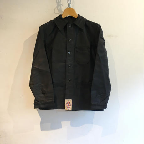 40's〜50's ペーパータグ付きDead Stock Black Moleskin  Coverall