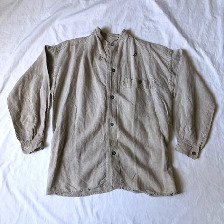 〜Later1930's French Military Linen Bourgeron Jacket.