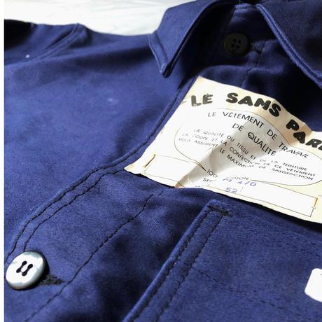 """50's """"Le Sant pareil"""" Ink Blue Moleskin Coverall Dead Stock"""