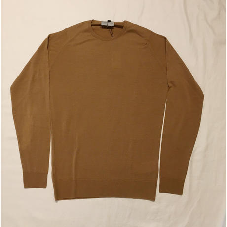 "JOHN SMEDLEY ""IMPERFECT LUNDY Pullover"" Camel Fine Merino Wool"