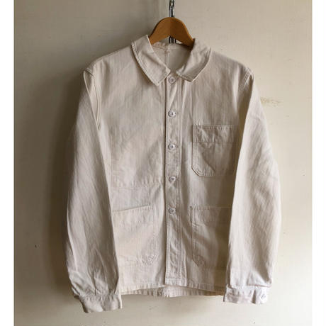 "50's〜60's  ""Adolphe Lafont"" White HBT Coverall Mint Condition"