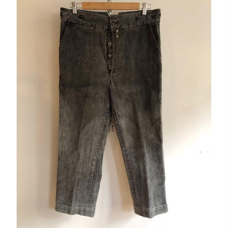 30's Le Fermier Corduroy Farmers Work  Trousers With Back Cinch