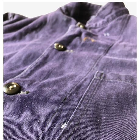 "50's Royal Navy Stand Collar Work Jacket Made by ""HOLDFAST"" Hard Repaired"