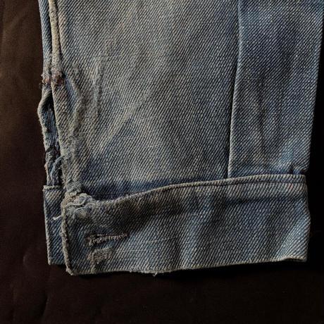 1930's French Military Indigo Cotton Work Jacket