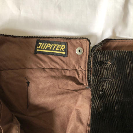 "30's ""Jupiter"" Heavy Corduroy With Back Cinch Farmer's Work Trousers Dead Stock"