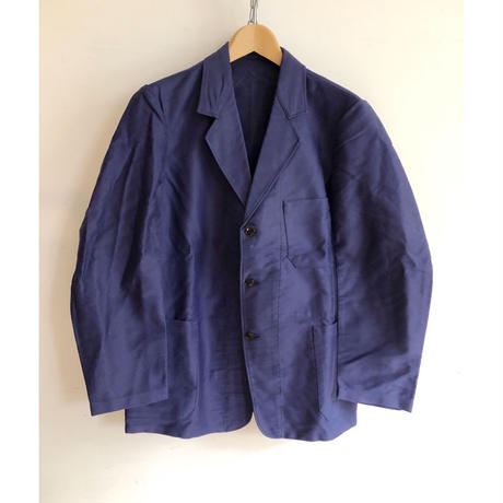 """50's  """"Le Fauori"""" Ink Blue Moleskin Lapel Jacket Dead Stock"""