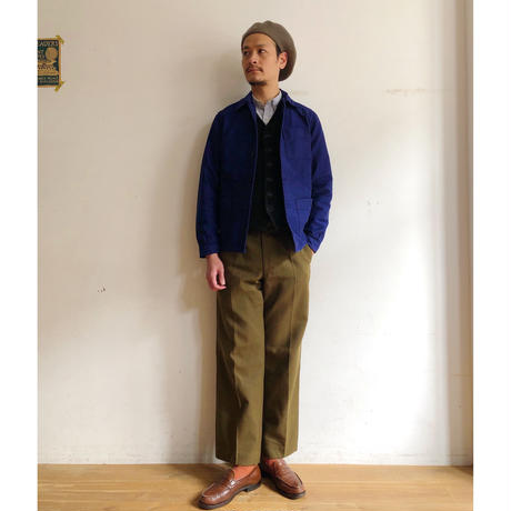 50's〜60's Ink Blue Moleskin Coverall Mint Condition