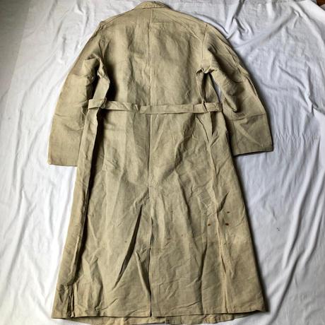 〜Later40's Natural Linen Painter Coat Dead Stock