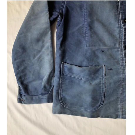 """40's〜50's Ink Blue Moleskin Coverall Made by """"Le Mont St Michel"""""""