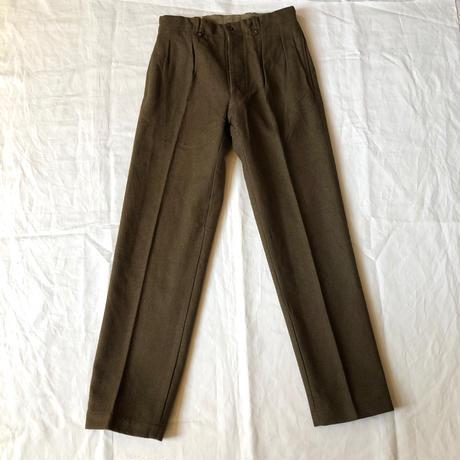 1960's French Army Wool Pants (French Battle Dress Wool Pants)