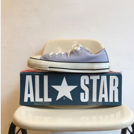 90's MADE IN USA CONVERSE ALL STAR Low Cut 箱付き Dead Stock  Size 7 Purple Cloud