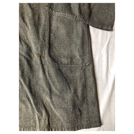 "Early40's Black Chambray Painter Tielocken Coat Made From ""Adolphe Lafont""/1"