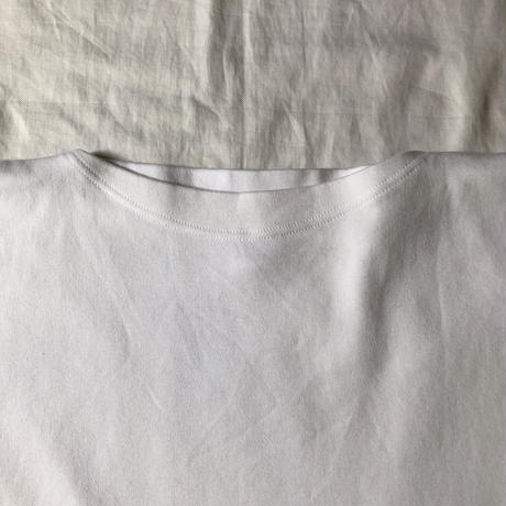 Italy Military Boat Neck Training Tee Dead Stock White