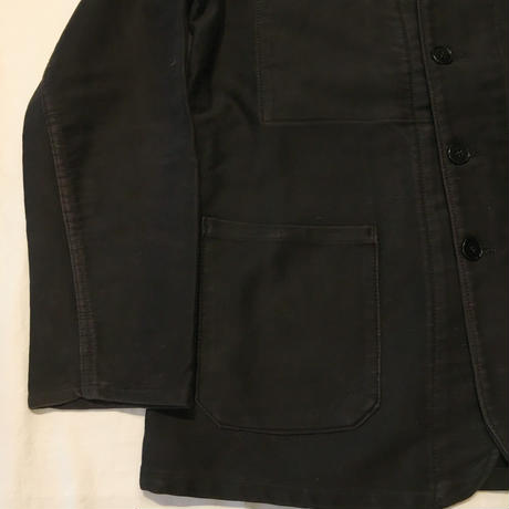 40's〜50's Le LABOUREUR Black Moleskin Lapel Jacket