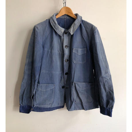 40's Sanforized Cotton Repaired French Work Jacket