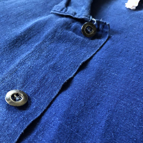 40's British  Metal Button Work Coverall Hidden Button Line Type.