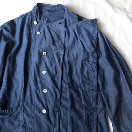 1930's〜1940's Germany Cotton/Silk Double Breasted Work Jacket (For Military?)