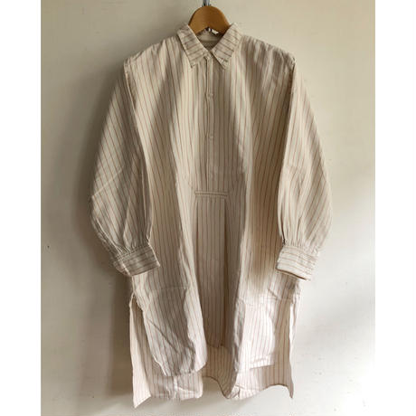 "Early 30's ""Button down/Selvage"" Striped Farmers Smock"