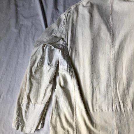 40's Hard Repaired White Work Coat