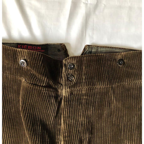 "30's ""Kiebon"" Heavy Corduroy With Back Cinch Farmers Work Trousers"
