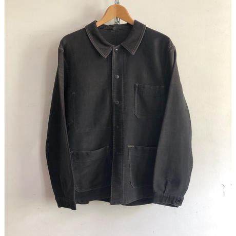 "40's〜50's Black Moleskin Coverall Good Condition ""Gergovia"""