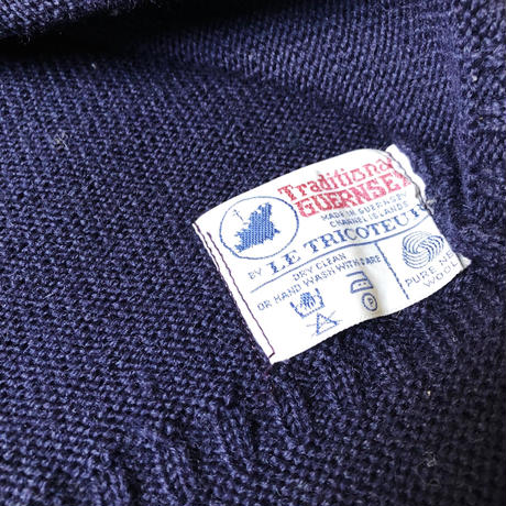 "Vintage Guernsey Sweater Made From ""Le Tricoteur"""