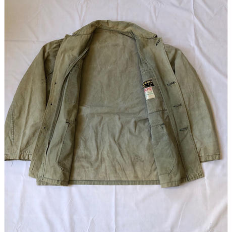 Later 30's〜40's Canvas Animal Buttons Hunting jacket