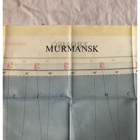 "1956 Royal Air Force Escape Scarf Dead Stock ""Murmansk"""