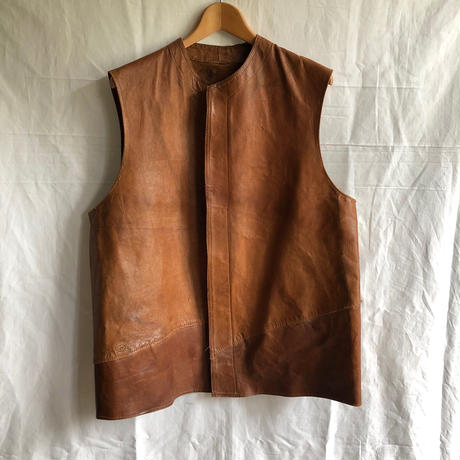 1940's British Indian Army?  Hard Repaired  Unlined Leather Jerkin