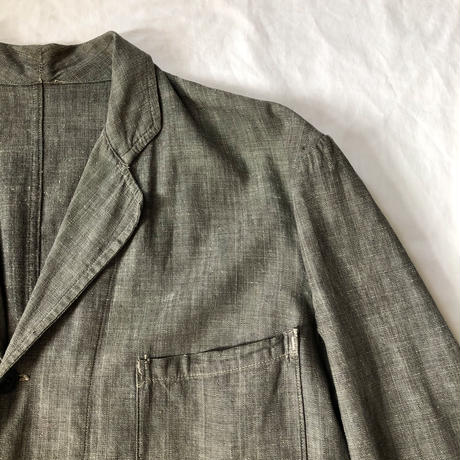 Later30's〜40's Metis (Cotton/Linen) Chambray Work Coat