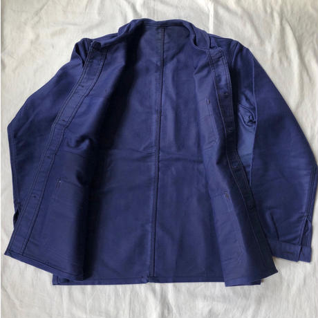 50's Ink Blue Moleskin Coverall Dead Stock
